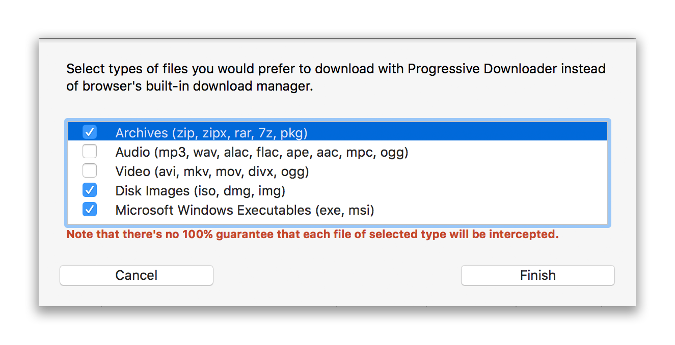 Progressive Downloader — Browser Integration